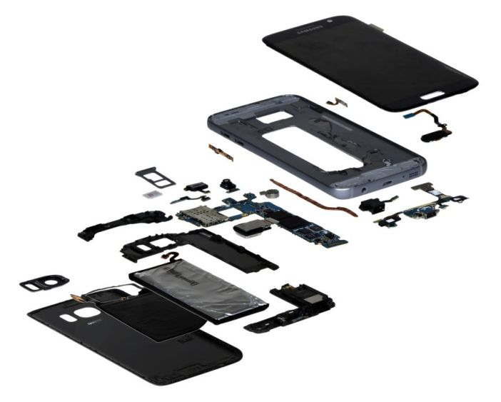 Galaxy S7 torn down