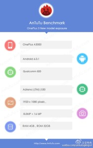 OnePlus 3 AnTuTu Benchmark