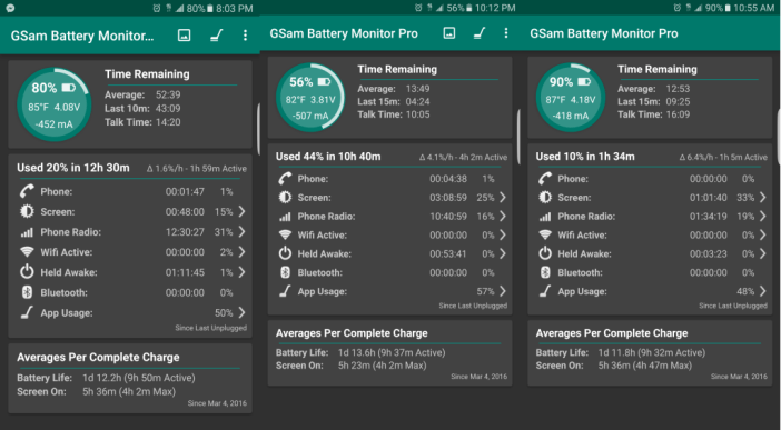 Samsung Galaxy S7 edge battery life gallery