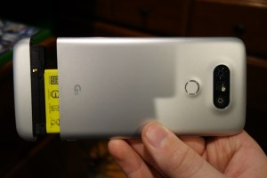 LG G5 back battery removed