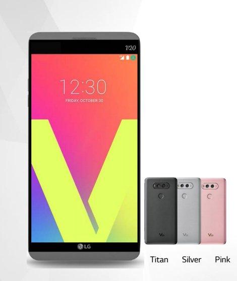 LG V20 will come in three colors