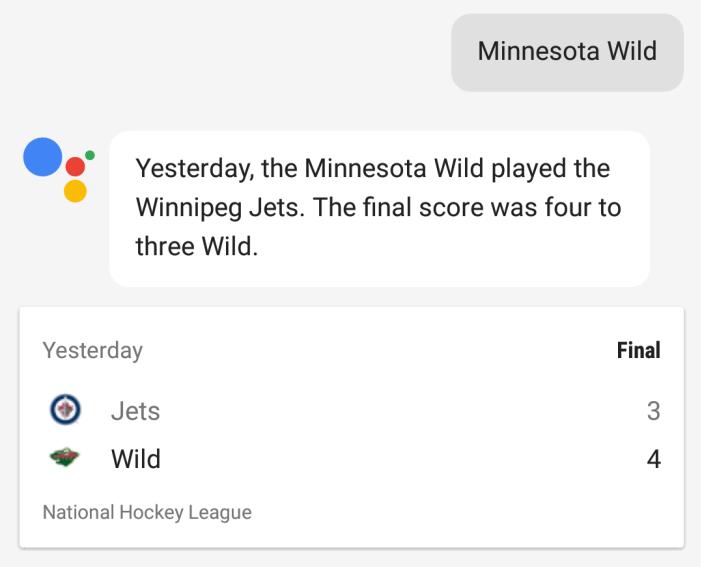 Google Assistant Score