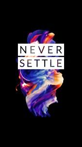 OnePlus 5 wallpaper Never Settle 7