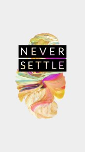 OnePlus 5 wallpaper Never Settle 6
