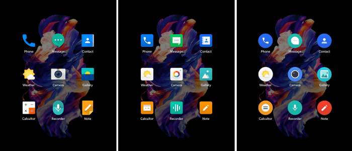 OnePlus Icon Packs