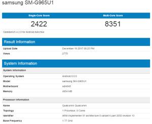 Galaxy S9+ Snapdragon