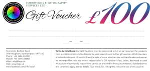 £100 Photography Gift Voucher
