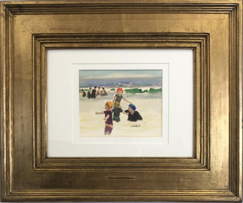 Playtime (Beach Scene), Circa 1896