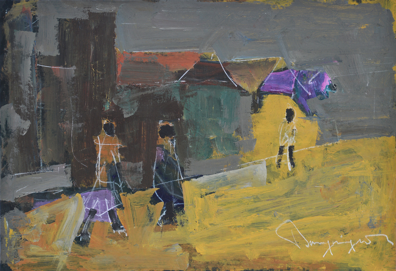 Street in Gold, 1978