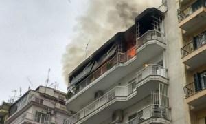 Θεσσαλονίκη ηλικιωμένοι φωτιά
