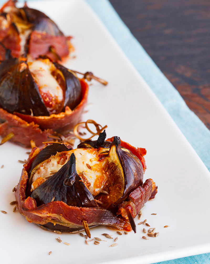 Bacon Wrapped Figs pair perfectly with Michael David wines available at FWS Wines
