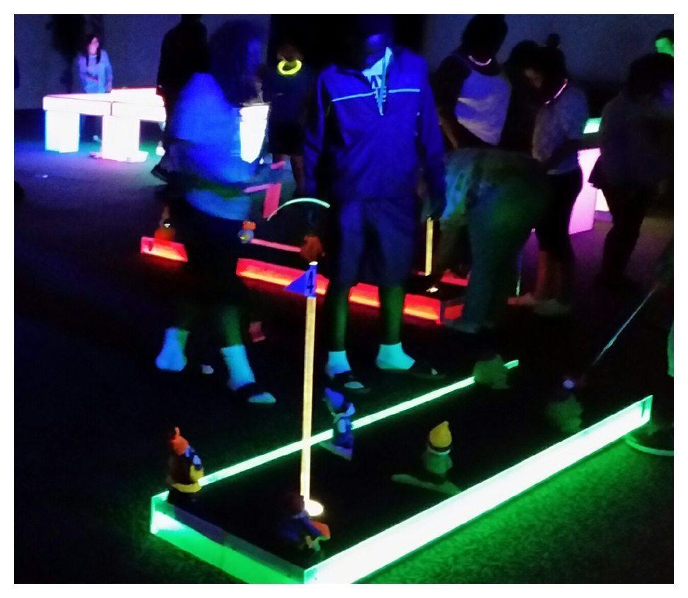 LED 3 Hole Mini Golf Rental Fantasy World Entertainment