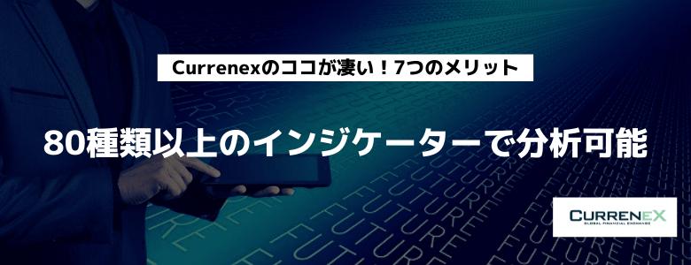 Currenex 80種類のインジケーター 分析可能