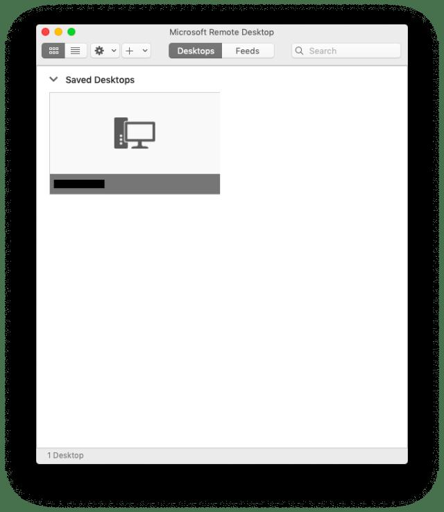 remotedesktopアプリのdesktop一覧に表示されました