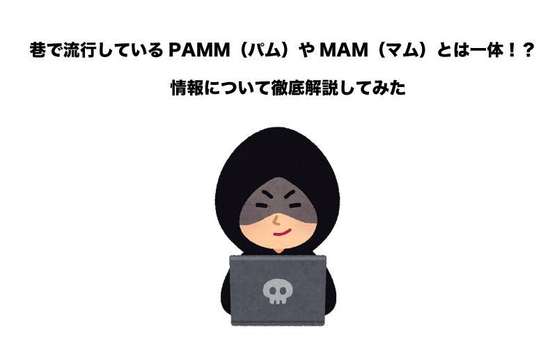 FX PAMM(パム) MAM(マム)