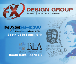 Join FX Design Group at NAB 2019 (Booth C859) & BEA 2019 (Booth B404)