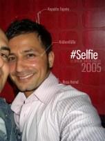 2005 Selfie im Cafe Europa. Bielefeld.