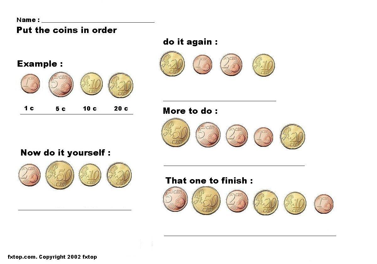 Add Coins And Value Worksheet