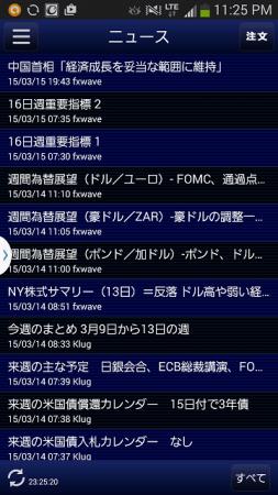 ヒロセ通商のFXアプリ(ニュース)