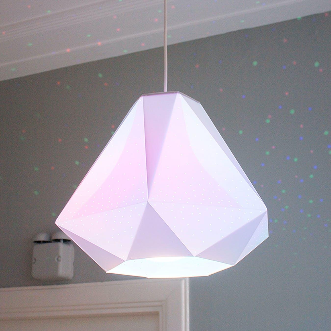 diamond pendant light w cmyk bulb