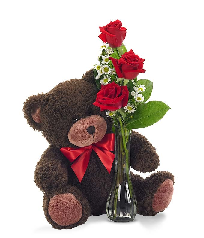 Classic Bud Vase Roses At From You Flowers