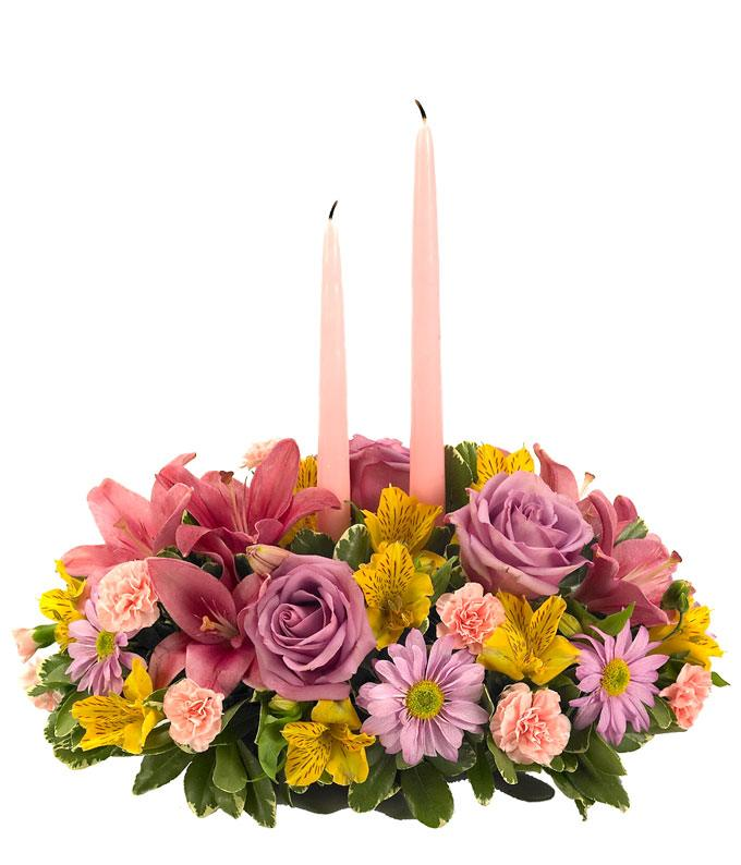 Easter Flowers   Easter Bouquets   FromYouFlowers Easter centerpiece with pastel flowers for delivery