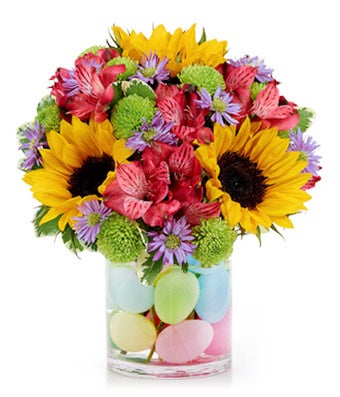 Easter Flowers   Easter Bouquets   FromYouFlowers Easter Egg Flower Fields