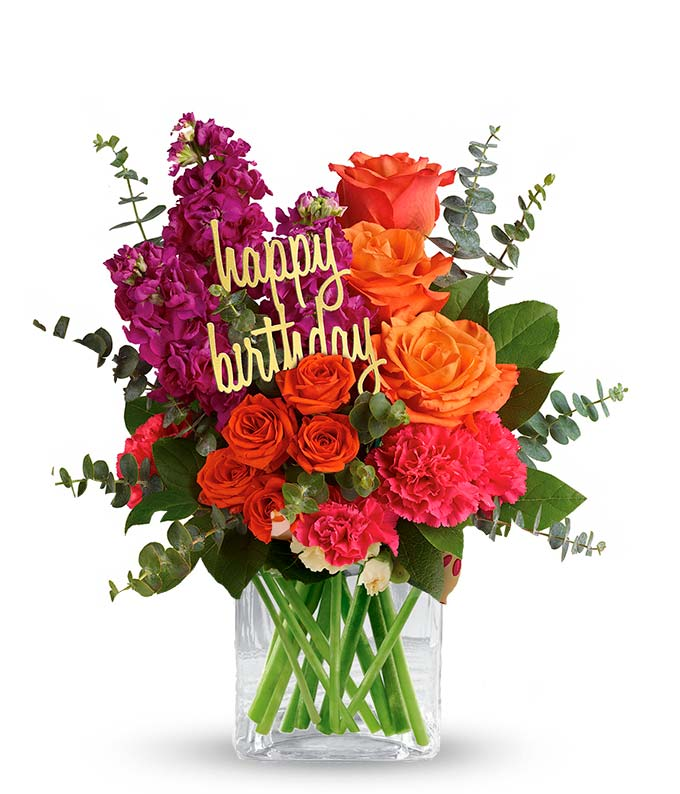 Be Bold on Your Birthday at From You Flowers bright flower birthday bouquet