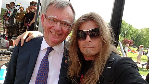Lars Bäckström, landshövding i Västra Götalands län och Peter Ahlborg. Foto: Privat