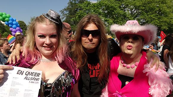 Peter Ahlborg på West Pride. Foto: Privat