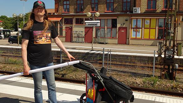 Efter ett snabbt stopp i Varberg var det dags att ta tåget till Halmstad. Foto Privat