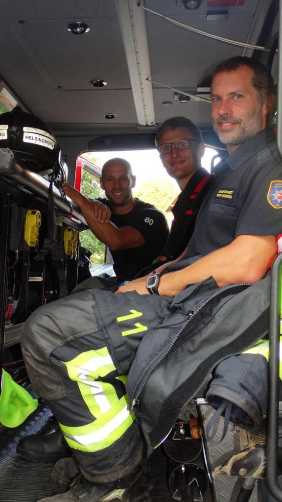 Brandkåren fick rycka ut till vandrarhemmet som Peter bodde på - men det visade sig vara falsklarm som tur var! Peter pass på att ge brandmännen en stor eloge. Ni är hjältar i mina ögon, säger han. Foro: Privat