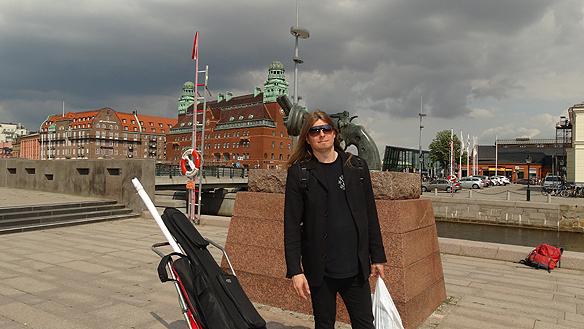 Peter Ahlborg besöker Malmö den 7 augusti 2014. Foto: Privat