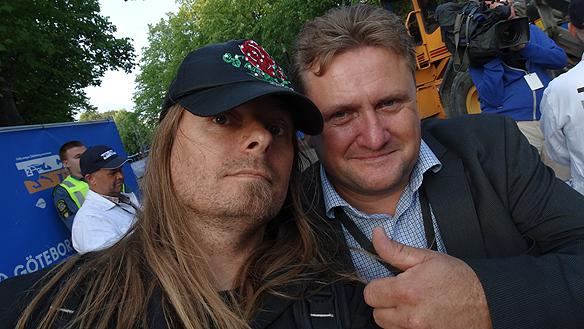 Peter Ahlborg och Åbys sportchef Jon Walter Pedersen, som var mer än nöjd med Citytravet. En riktig folkfest, tyckte han. Foto: Charlie Källberg