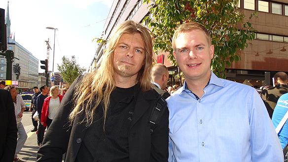 Peter Ahlborg gjorde en intervju med Gustav Fridolin i samband med hans besök i centrala Stockholm.