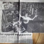 Peter Ahlborg visar upp sitt Kiss-rum i Norrköpings Tidningar 1983