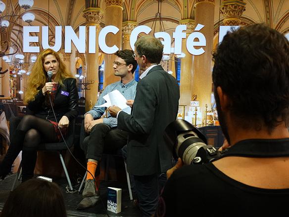 Den österrikiska författarinnan Ursula Puznanski medverkade på bokmässan. Foto: Peter Ahlborg