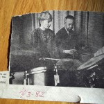 Peter började spela trummor när han var tio år