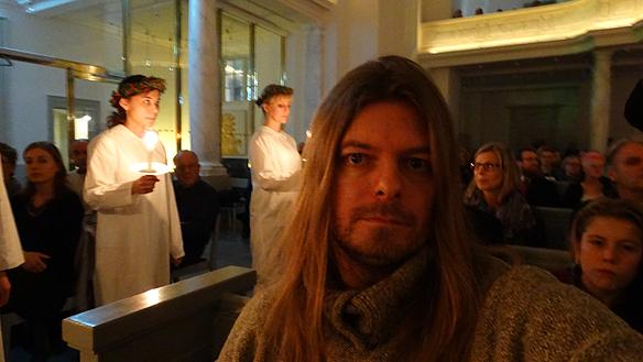 Peter Ahlborg besökte domkyrkan under luciafirandet. Julstämningen var   hög, konstaterar han. Foto: Peter Ahlborg