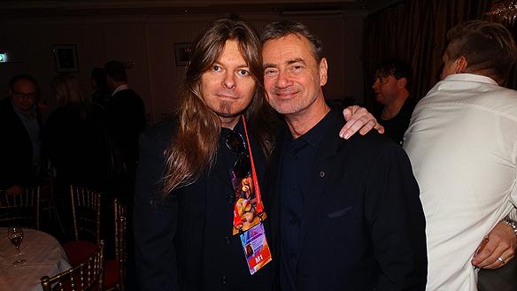 Peter Ahlborg och Christer Björkman på efterfesten i Göteborg.