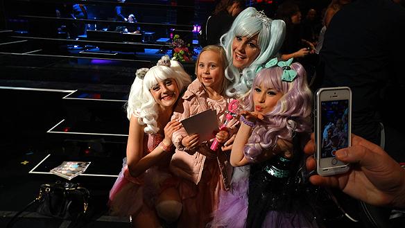 Barnens favorit Dolly Style, var i det närmaste chockade över att ha gått vidare. Nu ska vi vi festa och ha kul sedan ska vi ladda upp inför andra chansen. Foto: Peter Ahlborg