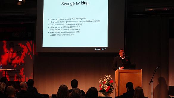 Marknaden är stor för Svenska företag om  de lär sig att nå invandrargrupperna, säger Amjad Aloul.  Foto: Peter Ahlborg