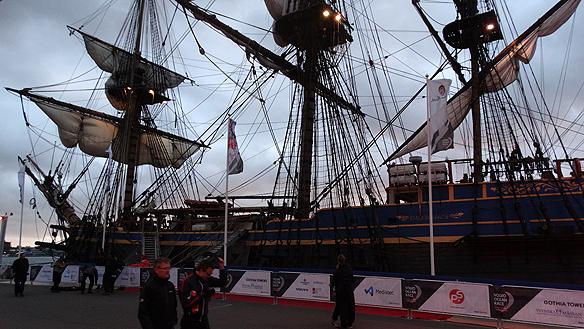 Ostindeifararen kom på besök under Volvo Ocean Race i Göteborg mellan den 21-28 juni 2015. Foto: Peter Ahlborg