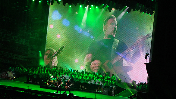 Metallica rockar på inför 63 000 Heavy Metal-fans på Ullevi den 22 augusti 2015. Foto: Peter Ahlborg
