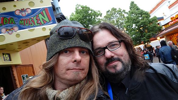 Peter Ahlborg träffar på Tommy Denander på Gröna Lund i samband med  Ace Frehley uppträdde där den 17 juni 2015.