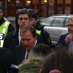 Stefan Löfven besökte Trollhättan och skolan Kronan efter attentatet