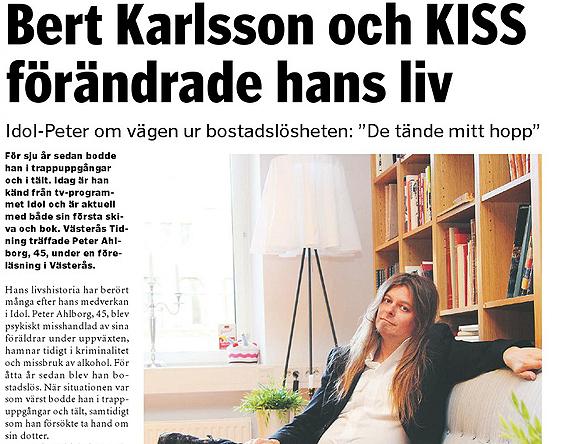 Peter Ahlborg i Västerås Tidning. Artikeln är skriven av Peter Hoffström som även fotograferade.