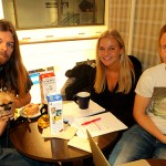 Gymasieelever gjorde lång intervju om hemlösheten med Peter Ahlborg