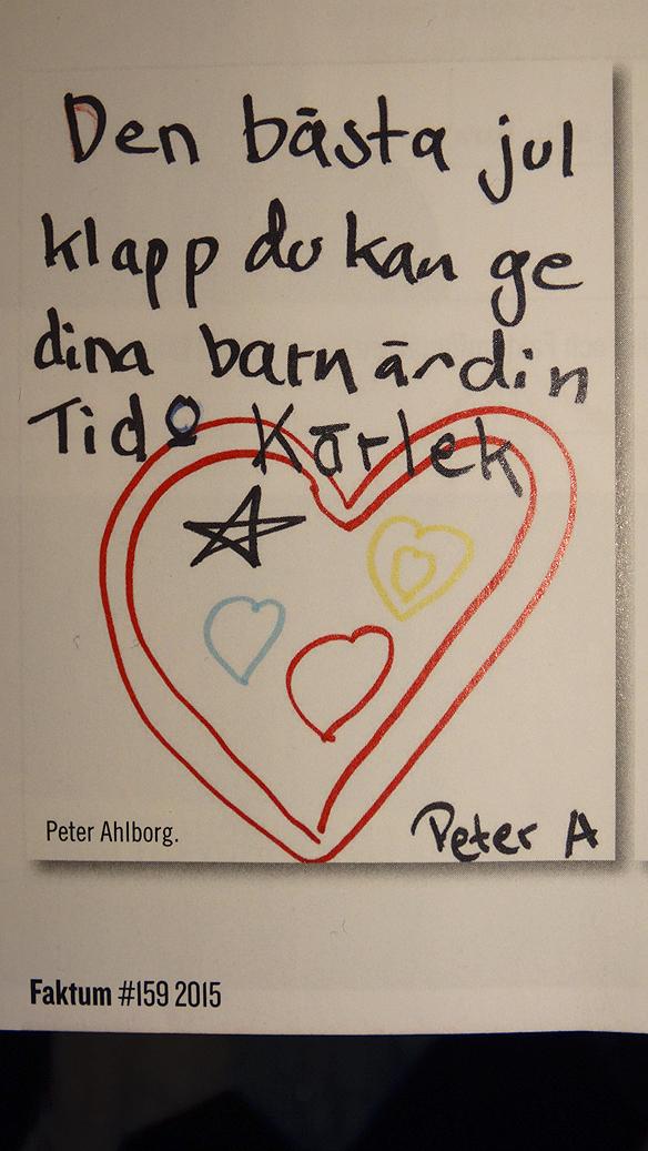 Peter Ahlborgs teckning till Faktums läsare. Foto: Peter Ahlborg