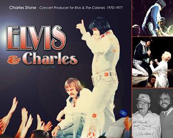 Charles Stone var Elvis turnémanager mellan 1970-1977. På stora bilden syns Charles tillsammans med Elvis under ett uppträdande då han bevakar Elvis från scenen.